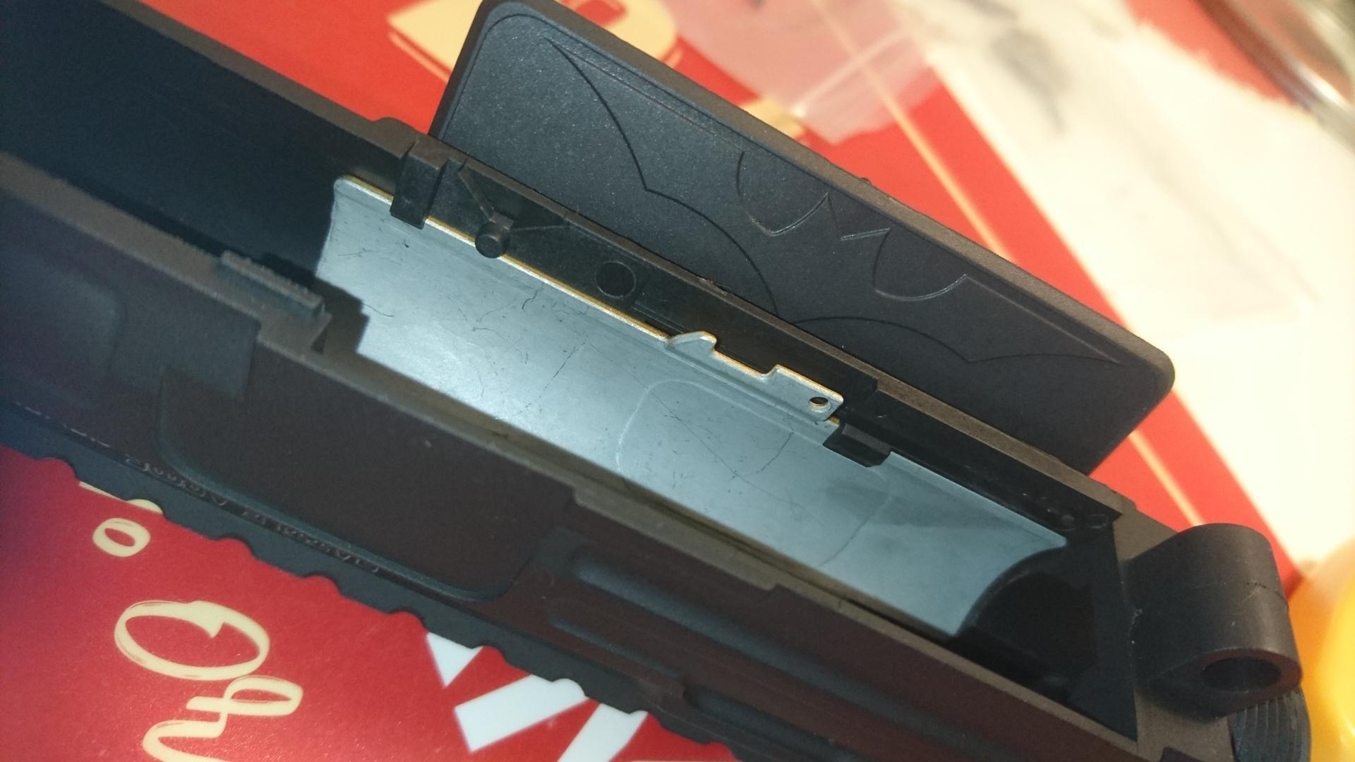 BAD556レシーバ交換 ボルトストップ用パーツ