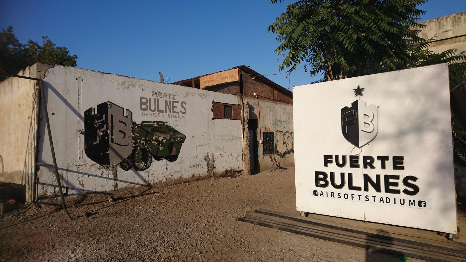 海外サバゲー チリ サンティアゴ AIRSOFT FUERTE BULNES 看板