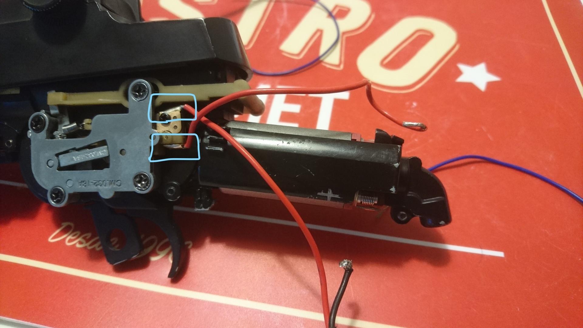 M14 socom 分解作業 FET化 配線外し