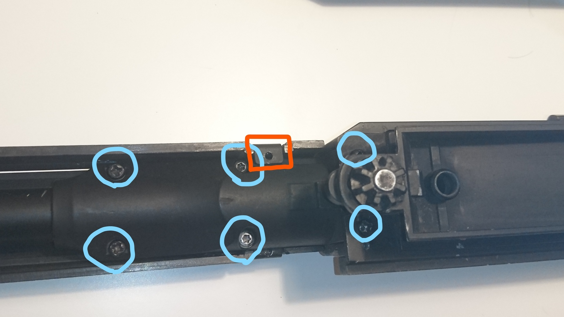 M14 socom 分解作業 パッキン交換 マズル分解 図解